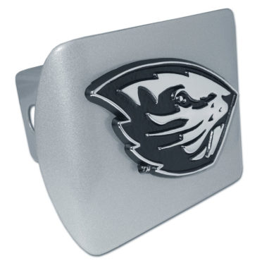 Oregon State Beaver Brushed Metal Hitch Cover