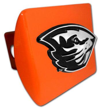 Oregon State Beaver Orange Metal Hitch Cover image