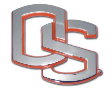 Oregon State Orange Chrome Emblem