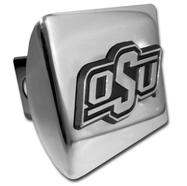 Oklahoma State Emblem on Chrome Hitch Cover
