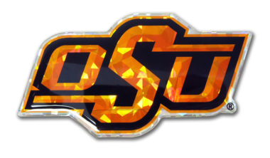 Oklahoma State Orange 3D Reflective Decal image
