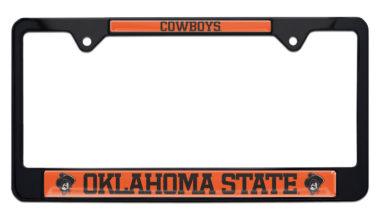 Oklahoma State Cowboys Black License Plate Frame