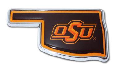 Oklahoma State Shape Chrome Emblem