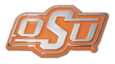 Oklahoma State Orange Chrome Emblem