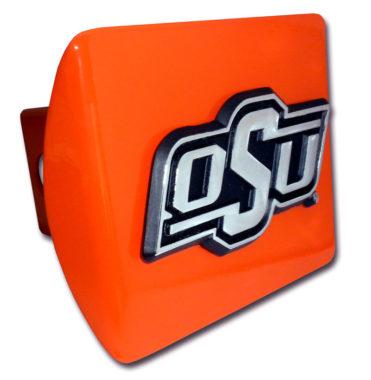 Oklahoma State Emblem on Orange Hitch Cover