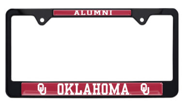 University of Oklahoma Alumni Black License Plate Frame