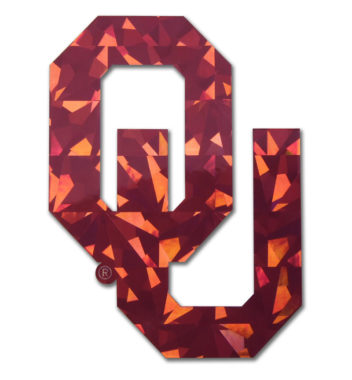 University of Oklahoma Crimson Reflective Decal