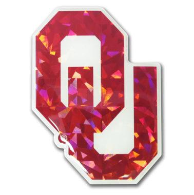 University of Oklahoma Crimson 3D Reflective Decal