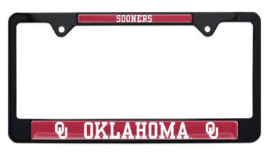 University of Oklahoma Sooners Black  License Plate Frame