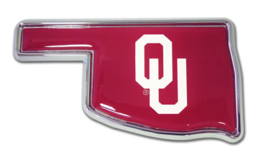 University of Oklahoma State Shape Chrome Emblem