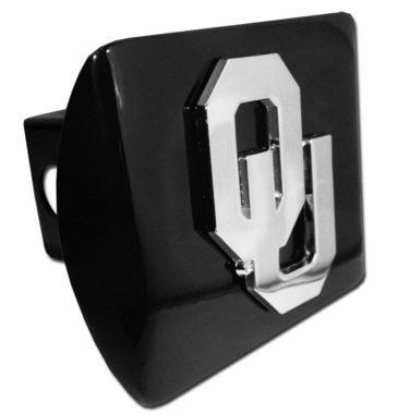 University of Oklahoma Emblem on Black Hitch Cover