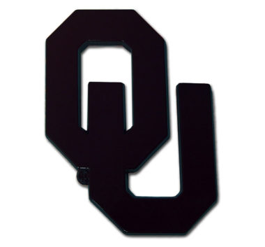 University of Oklahoma Black Powder-Coated Emblem