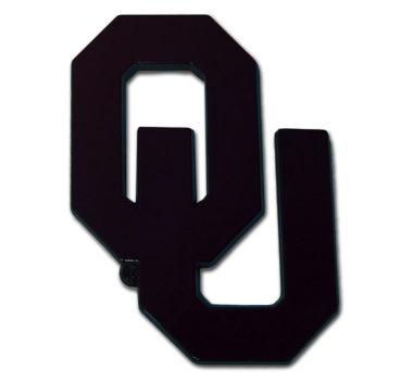 University of Oklahoma Black Powder-Coated Emblem