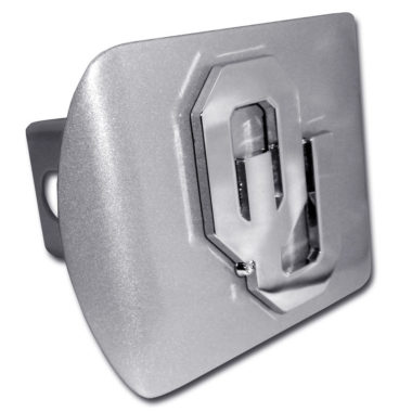 University of Oklahoma Emblem on Brushed Hitch Cover
