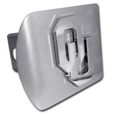 University of Oklahoma Emblem on Brushed Hitch Cover