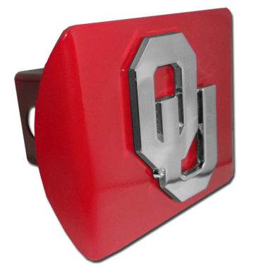 University of Oklahoma Emblem on Crimson Hitch Cover