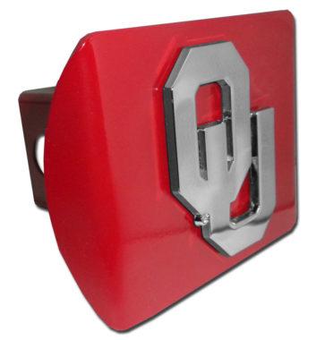University of Oklahoma Emblem on Crimson Hitch Cover