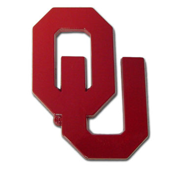 University of Oklahoma Red Powder-Coated Emblem