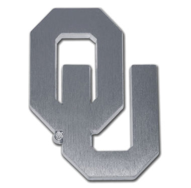 University of Oklahoma Matte Chrome Emblem