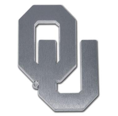 University of Oklahoma Matte Chrome Emblem