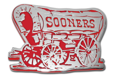 University of Oklahoma Sooner Crimson Chrome Emblem