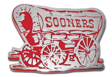University of Oklahoma Sooner Crimson Chrome Emblem