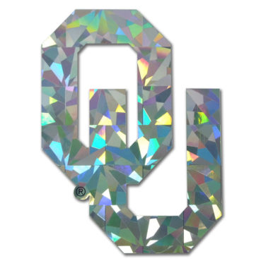 University of Oklahoma Silver Reflective Decal
