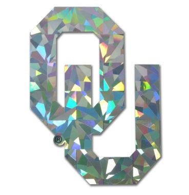 University of Oklahoma Silver Reflective Decal image
