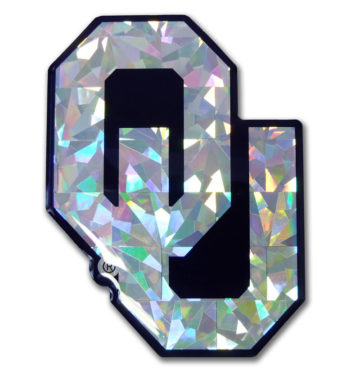 University of Oklahoma Silver 3D Reflective Decal