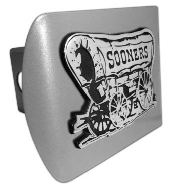 University of Oklahoma Sooners Emblem on Brushed Hitch Cover