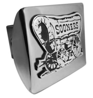 University of Oklahoma Sooners Emblem on Chrome Hitch Cover