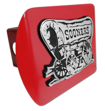 University of Oklahoma Sooners Emblem on Crimson Hitch Cover