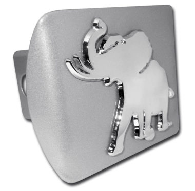 Alabama Pachyderm on Brushed Hitch Cover
