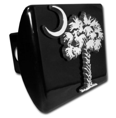 South Carolina Palmetto Emblem on Black Hitch Cover