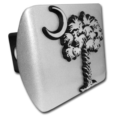 South Carolina Palmetto Emblem on Brushed Hitch Cover