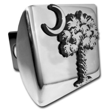 South Carolina Palmetto Emblem on Chrome Hitch Cover