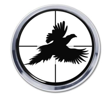 Pheasant Target Chrome Emblem