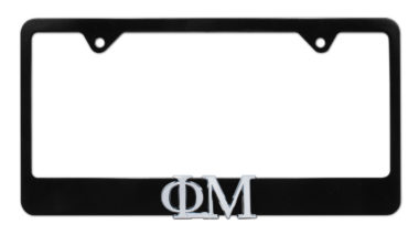 Phi Mu Black License Plate Frame