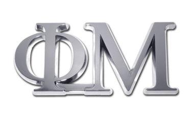 Phi Mu Chrome Emblem