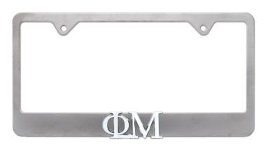 Phi Mu Matte License Plate Frame