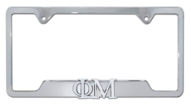 Phi Mu Sorority Chrome Open License Plate Frame