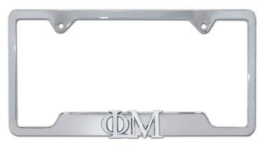 Phi Mu Sorority Chrome Open License Plate Frame