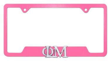 Phi Mu Sorority Pink Open License Plate Frame