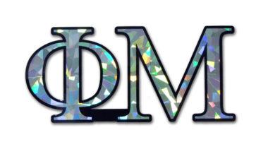 Phi Mu Reflective Decal  image