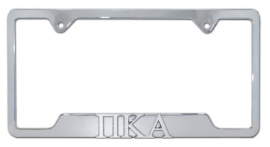 PIKE Fraternity Chrome Open Metal License Plate Frame