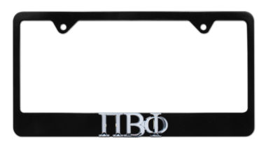 Pi Beta Phi Black License Plate Frame