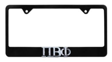 Pi Beta Phi Black License Plate Frame image