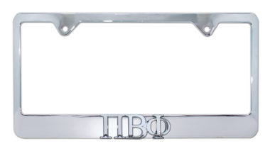 Pi Beta Phi Chrome License Plate Frame