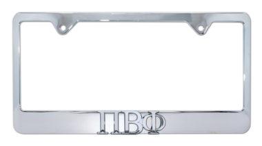 Pi Beta Phi Chrome License Plate Frame