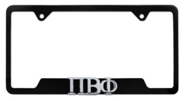 Pi Beta Phi Sorority Black Open License Plate Frame